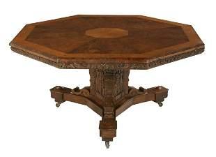 Victorian Oak Tilt-Top Table