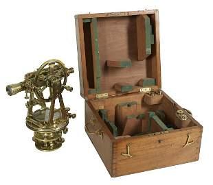 English Cased Brass Theodolite