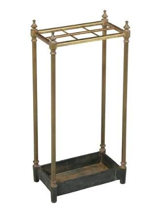Edwardian Brass and Iron Umbrella Stand