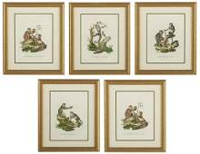 Four Continental HandColored Engravings