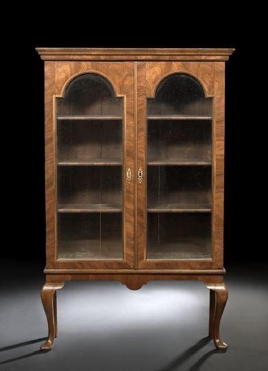 2: Queen Anne-Style Walnut Bookcase