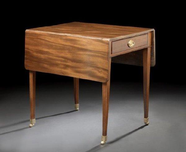 3: Regency-Style Mahogany Pembroke Table