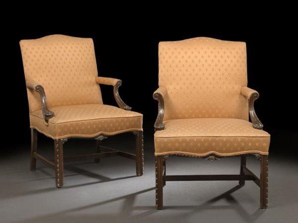 6: Pair of Mahogany Gainsborough Chairs