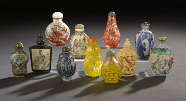 22: Group of Eleven Chinese Snuff Bottles