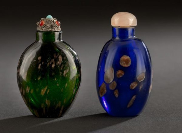 24: Two Chinese Glass Snuff Bottles