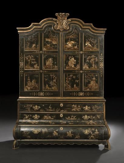 295: Georgian-Style Polychromed Cabinet-on-Chest