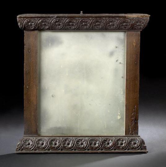 563: English Oak Looking Glass