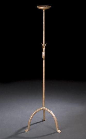 571: Unusual Continental Iron Floor Lamp