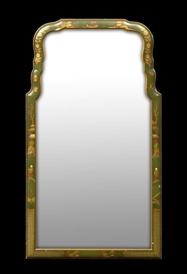 5: Queen Anne-Style Polychromed Looking Glass
