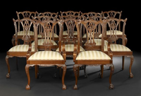 11: Suite of Thirteen George III-Style Dining Chairs