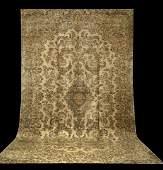 396: Antique Persian Lavar Kerman Carpet