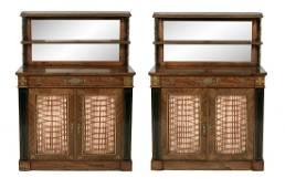 Fine Pair of Regency-Style Rosewood Cabinets