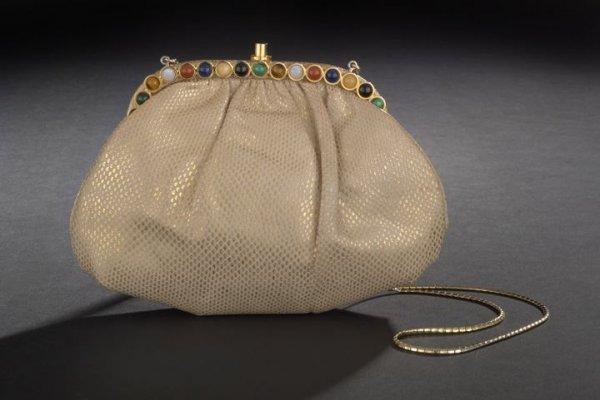 670: Judith Leiber Leather Clutch Bag