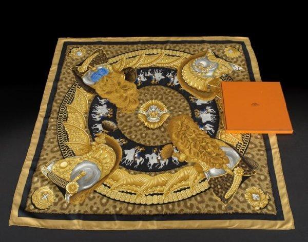674: Hermes Silk Scarf