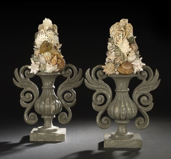 9: Large Pair of Italian Two-Handled Garniture Vases