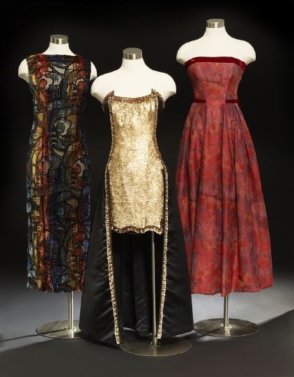 668: Group of Three Evening Wear Dresses