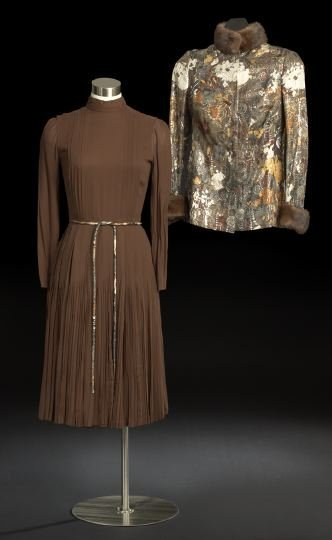 670: Christian Dior Cocktail Dress, Jacket and Belt