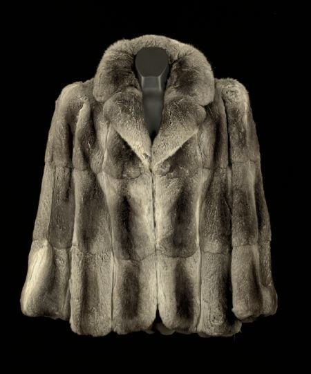 671: Galanos Gray Chinchilla Jacket