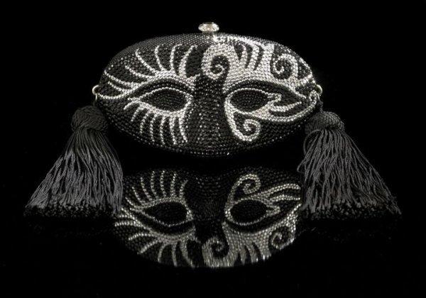 "683: K. Baumann ""Mardi Gras""-Masque Evening Bag"