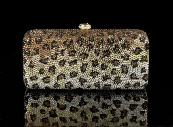 """684: K. Baumann """"Bar Leopard"""" Designer Evening Bag"""