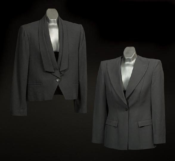 687: Two Black Wool Jackets