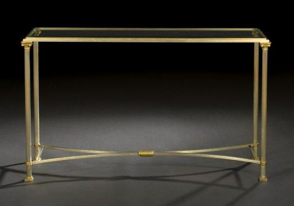1104: Jansen, Paris, Glass-Top Side Table