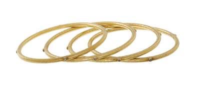 Four Indian Diamond Bangle Bracelets