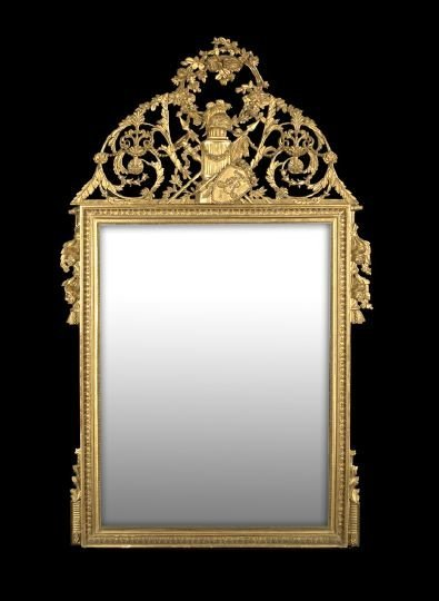 3: Large and Fine Swedish Overmantel Mirror