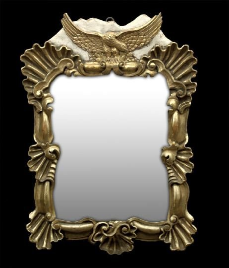 8: Continental Neoclassical Giltwood Looking Glass