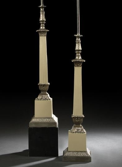 19: Pair of French Gilt-Brass-Mounted Table Lamps