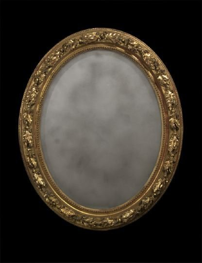 21: Napoleon III Giltwood and Plaster Looking Glass