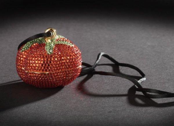 624: Judith Leiber Red Tomato Petit Minaudiere