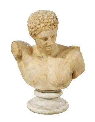 """Marble Bust of the """"Hermes of Praxiteles"""""""