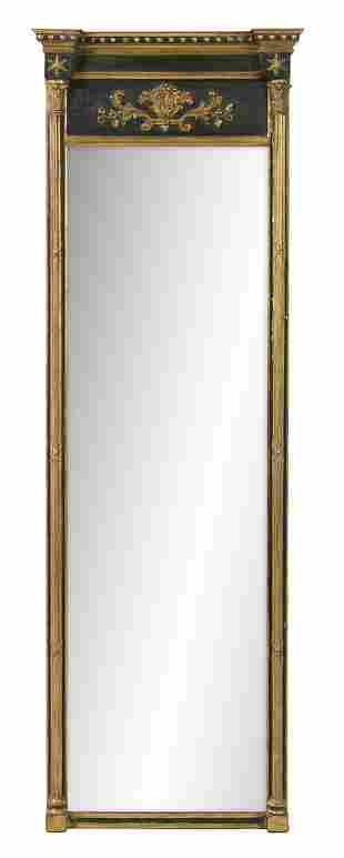 Georgian Revival Parcel-Gilt Pier Mirror