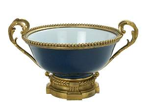 Chinese Kangxi Bronze-Mounted Porcelain Bowl
