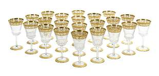 """Twenty-Two St. Louis """"Thistle"""" Water Goblets"""