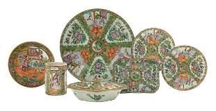 Collection of Rose Medallion Porcelain
