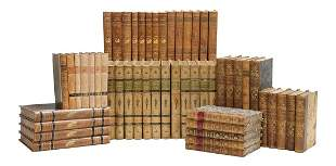 Collection of Scandinavian Leather-Bound Books