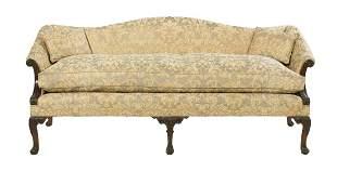 George III-Style Mahogany Settee