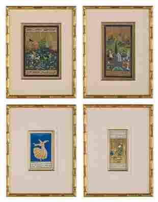 Four Antique Persian Miniatures