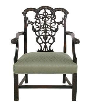 George III-Style Mahogany Armchair