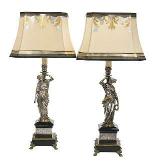 Pair of French Neo-Grec Candlesticks