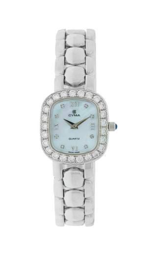 Lady's Cyma Diamond Wristwatch