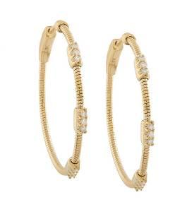 Pair of Diamond Hoop Earrings