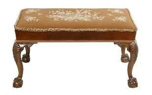 George III-Style Mahogany Bench/Stool