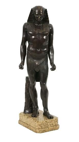 "Italian Patinated Bronze of ""Antinous-Osiris"""