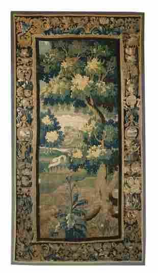 Flemish Hand-Woven Verdure Tapestry