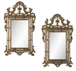 Pair of Italian Giltwood Mirrors