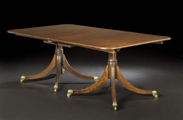 12: George III-Style Mahogany Dining Table