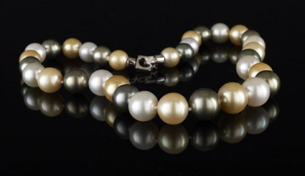 710: Rare and Dramatic South Seas Pearl Necklace